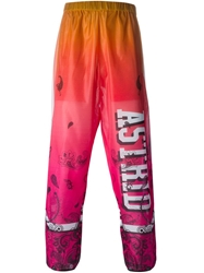 Astrid Andersen Logo Printed Track Pants Pink And Purple