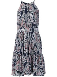 L'agence Paisley Print Dress Black