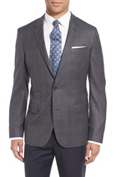 Boss Men's 'Hutch' Trim Fit Wool Blazer Charcoal