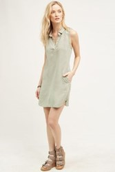 Anthropologie Brooks Shirtdress Moss
