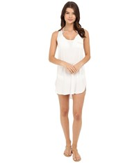 Lucky Brand White Beach Dress White Women's Swimwear