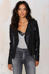 Nasty Gal Blank Nyc Kiss And Tell Vegan Leather Jacket