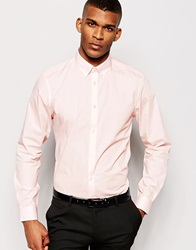 Smart Shirt In Long Sleeve With Button Down Collar Pink