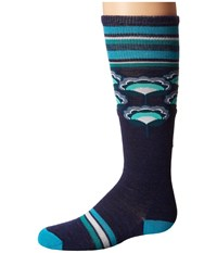 Smartwool Peony Pop Knee Highs Ink Heather Women's Knee High Socks Shoes Navy