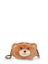 Moschino Bear Shaped Faux Fur Shoulder Bag Brown