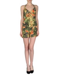 Amy Gee Short Overalls Military Green