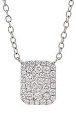 Finn Women's Looking Glass Pendant Necklace Colorless