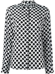 Msgm Polka Dot Shirt White