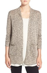 Eileen Fisher Women's Plait Detail Organic Linen And Cotton Open Front Cardigan