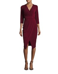 Rachel Roy Knit Sheath Dress Pinot Noir