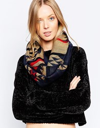 Yumi Patterned Snood Navy