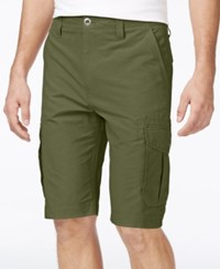 Ocean Current Men's Peached Cargo Shorts Olive