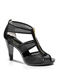 Michael Michael Kors Open Toe Platform Sandals Berkley High Heel Black