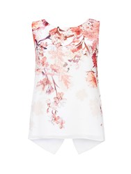 Wallis Petite Pink Floral Shell Top Multi Coloured