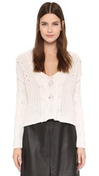Tess Giberson Exaggerated Crop V Neck Sweater Ivory
