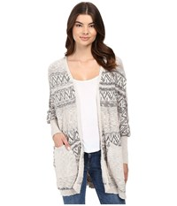 Rip Curl Next In Line Cardigan Grey Women's Sweater Gray