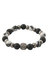 Men's Ettika Silver And Agate Stretch Bracelet
