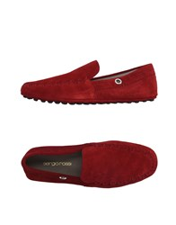 Sergio Rossi Footwear Moccasins Men Brick Red