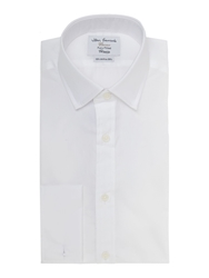 T.M.Lewin Plain Fully Fitted Long Sleeve Formal Shirt White
