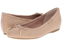 Rockport Total Motion 20Mm Bow Ballet Warm Taupe Nappa Women's Flat Shoes Neutral