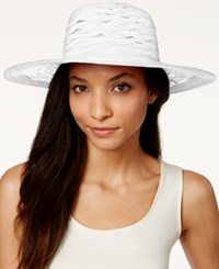 Nine West Sheer Open Super Floppy Hat White