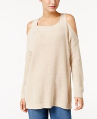 Styleandco. Style Co. Ribbed Cold Shoulder Sweater Only At Macy's Natural Heather