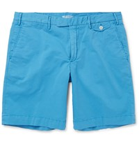 Boglioli Stretch Cotton Bermuda Shorts Blue