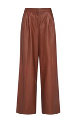 Tibi Wide Leg Leather Pant Orange