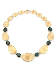 Marco Bicego Lunaria Unico Green Tourmaline And 18K Yellow Gold Collar Necklace