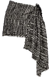 Simone Rocha Embellished Metallic Tweed Wrap Black