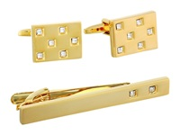 Stacy Adams Tie Clip And Cuff Link Set Gold Cuff Links