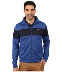 Lacoste Sport Track Jacket With Bold Chest Stripe Monaco Blue Navy Blue Men's Coat