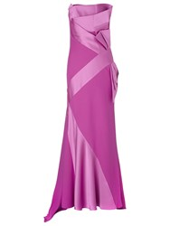 Jacques Vert Lorcan Satin Crepe Bow Gown Mid Pink