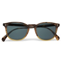 Oliver Peoples Finley Esq. Round Frame Acetate Sunglasses Brown