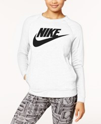 Nike Sportswear Modern Fleece Logo Sweatshirt White Black