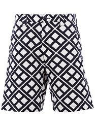 Blue Blue Japan Geometric Print Shorts Black