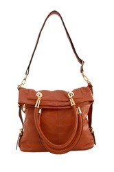 Erica Anenberg Sutton Genuine Leather Messenger Bag Brown