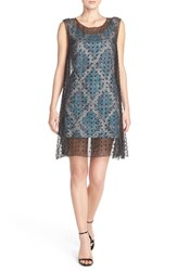 Women's Tracy Reese Embellished Silk And Jacquard A Line Dress