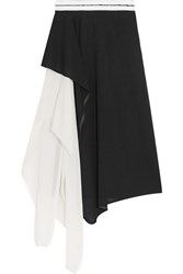 Vionnet Asymmetric Wool Blend Skirt Black