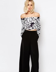 Weekday Flower Print Off The Shoulder Top Flower Print Multi