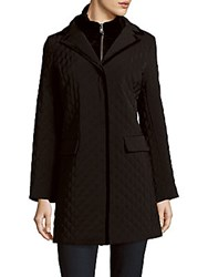 Jane Post Quilted Long Coat Black