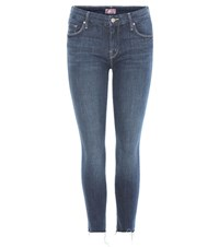 Mother The Looker Ankle Fray Jeans Blue