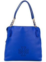 Tory Burch 'Harper' Center Zip Tote Blue