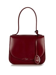 Rochas Monceau Medium Leather Shoulder Bag Burgundy