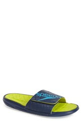 Speedo 'Exqueeze Me' Slide Sandal Men Insignia Blue Sulfur Spring