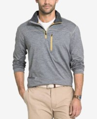 G.H. Bass And Co. Men's Big And Tall Trail Flex Quarter Zip Heathered Sweatshirt Neutral Grey Heather