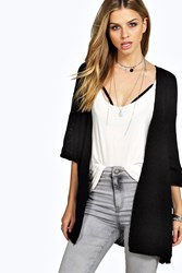 Boohoo Loose Knit Batwing Cardigan Black