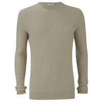 J. Lindeberg J.Lindeberg Men's Crew Neck Knitted Jumper Golden Beige