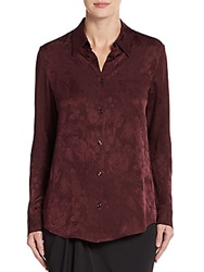 Reed Krakoff Peter Floral Print Blouse Mulberry
