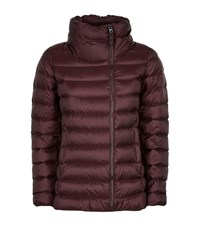 Max Mara Maxmara Weekend Quilted Funnel Neck Jacket Female Red